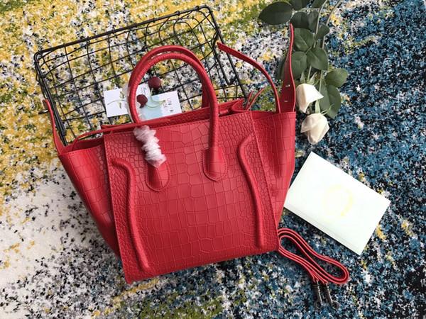 Timsah deri çanta kadın büyük çanta tote lüks çanta omuz çantası moda SıCAK klasik çanta büyük Marmont Kırmızı