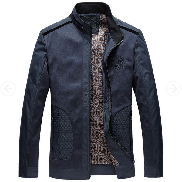 Men Jacket 2017 New Fashion Veste Homme Business Spring Jacket Thin British Style Men Jackets Male Stand Collar Autumn Coats 4xl T4190617