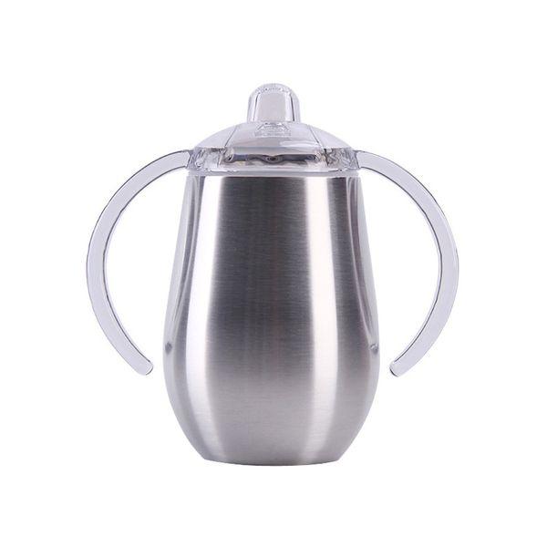 10oz tainle teel ippy cup with double handle egg hape cup ucker cup double wall vacuum in ulated fla k wine mug watr bottle