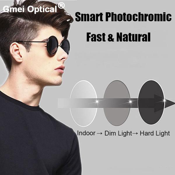1.61 High-Index Super-Tough Beschichtung Photochromic Grey Einstärken Sehstärke Anti-Radiation UV400 Farbwechsel Schnell