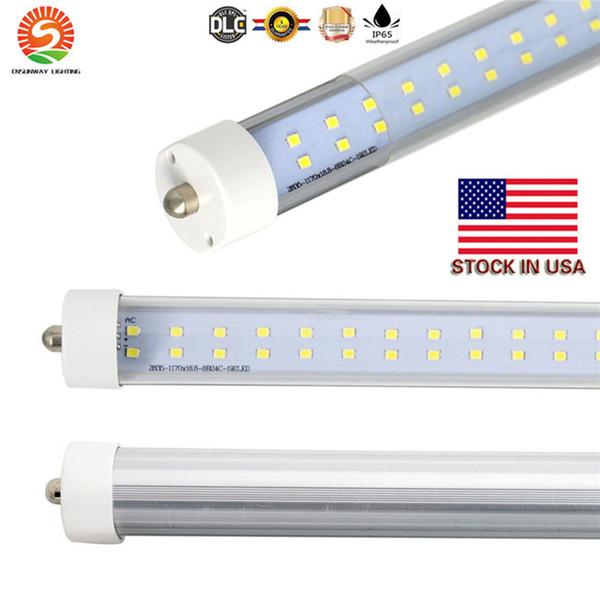 LED tubi 8ft Fixture 5000K 6000K Fa8 unico perno LED T8 8ft tubo 65W Ballast bypass 8 piedi LED tubi fluorescenti lampada