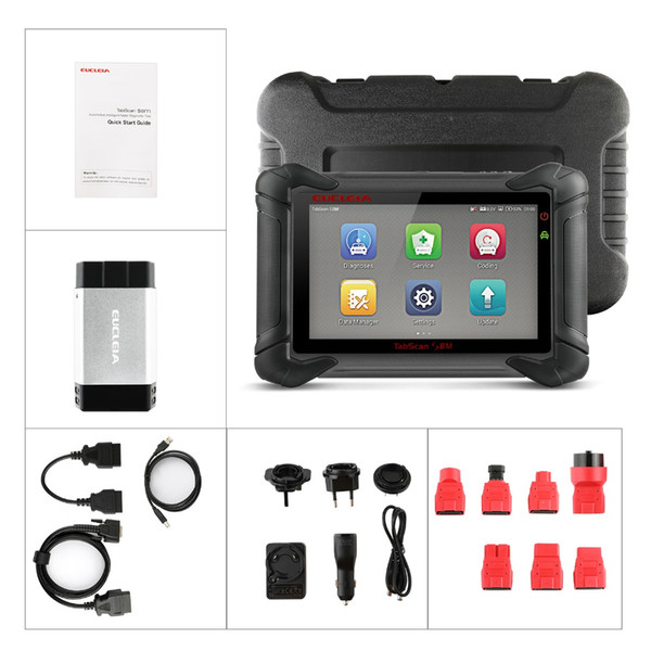 EUCLEIA S8M OBD OBD2 Diagnostic Tool Full System Automotive Scanner ABS EPB SRS TPS Oil Reset OBDII Immobilizer With Adapter