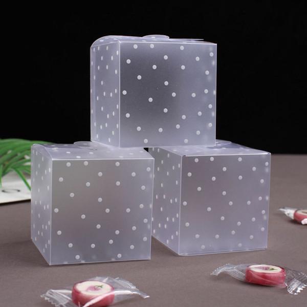 50 transparente Geschenkschachteln Quadratische PVC-Pralinenschachtel Hochzeit