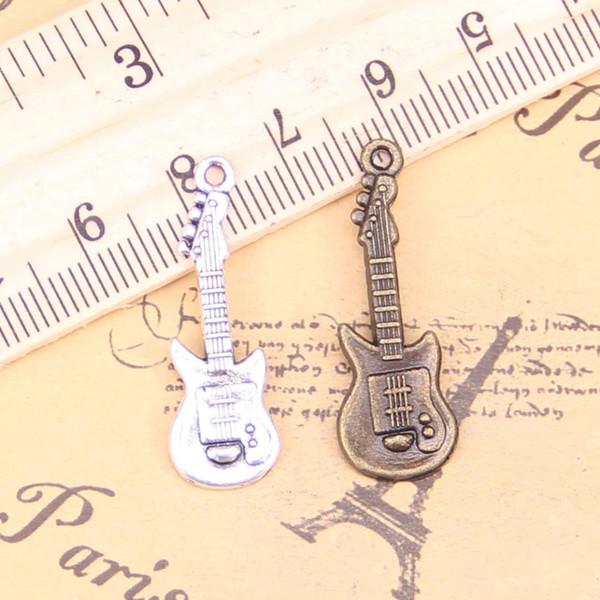 14pcs очаровывает Electic гитара 35x12mm античная Подвески, Vintage тибетские серебряные ювелирные изделия, DIY для браслета ожерелья
