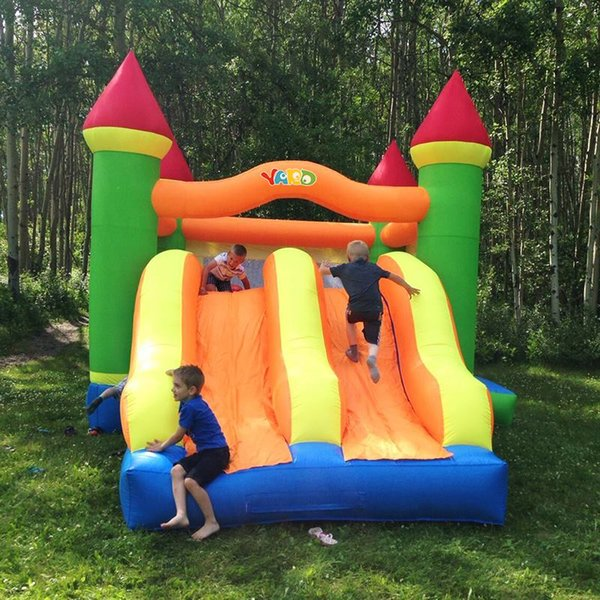 YARD Double slide combo bounce house inflatable bouncer bouncy castle jumper with blower
