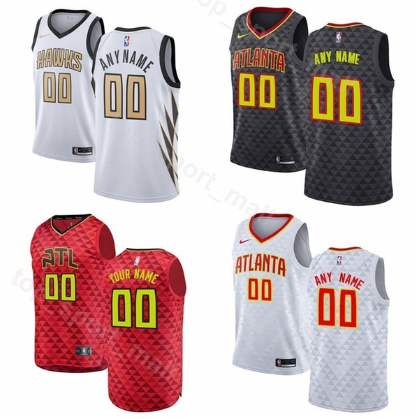 outlet store 4a6f2 ede98 2019 Man Kids Woman Atlanta Printed Hawks Trae Young Jersey Basketball  Taurean Prince John Collins Kent Bazemore Vince Carter Edition City Shirt  From ...