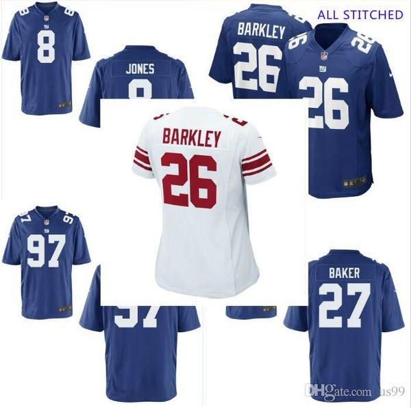Mens 97 Dexter Lawrence Jersey Deandre Baker #8 Daniel Jones Vapor Untouchable Draft White Royal cheap american football jerseys stitched