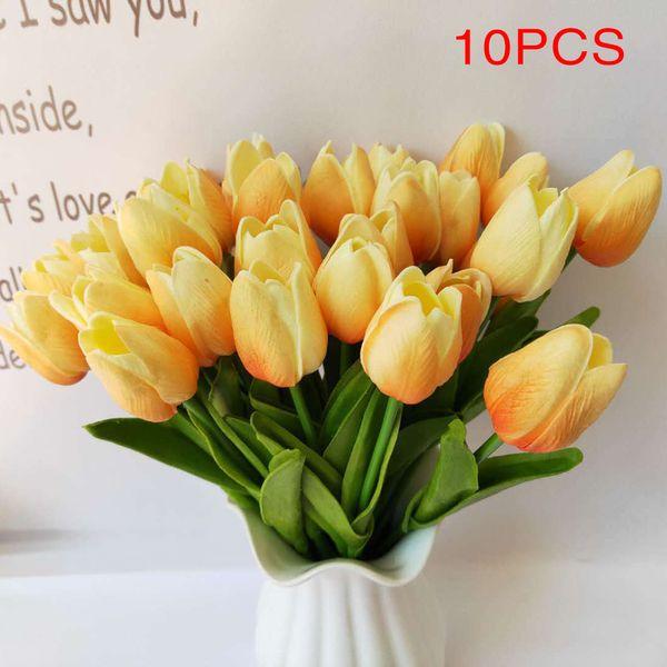 Simulation PU Tulip High-end PU artificial flower Artificial decorative flower, wedding home furnishings props