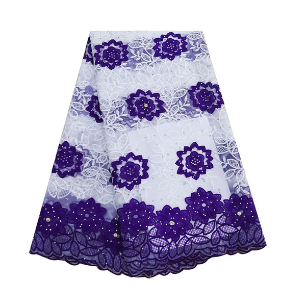 Nouvelle arrivée jaune dentelle africaine tissu brodé pierres lait soie français net dentelle tissus de tulle pour aso ebi robes de mariage
