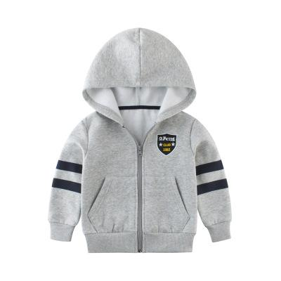 Spring New boys fashion hooded jackets baby boy solid long sleeve sport clothing kdis outwear free shipping