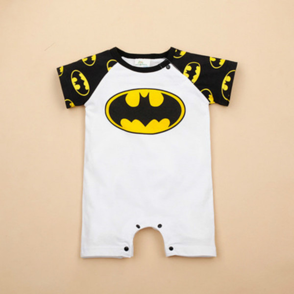 Cool jumpsuit batman long short sleeve t shirt girls clothes halloween costume for kid baby boy rompers newborn clothing set