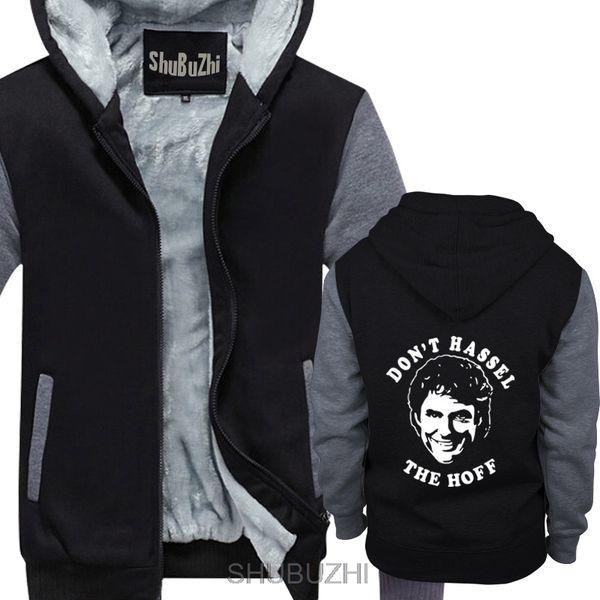 DAVID HASSELHOFF Don't Hassel the Hoff Baywatch Heavy men winter hoodie male xmas jacket gifts sbz4451