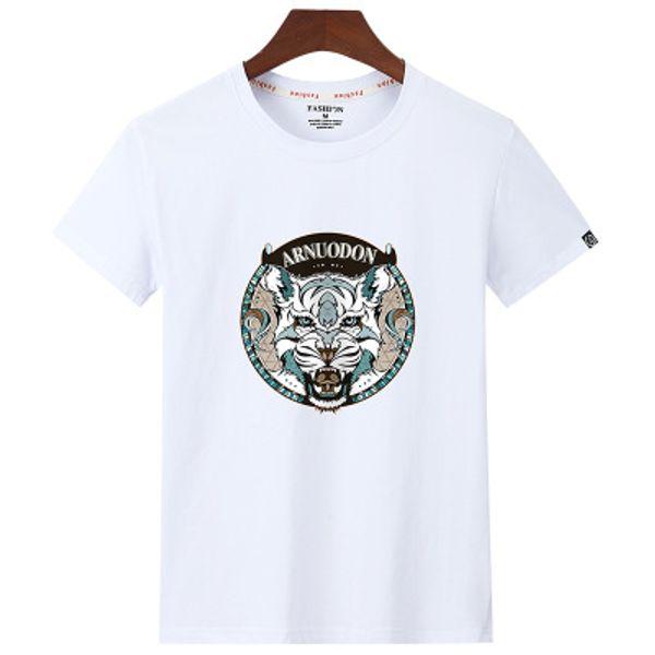 Мужская дизайнерская футболка [чистый хлопок] с коротким рукавом футболки из чистого хлопка весной и летом новая тенденция молодежный спортивный случайный случайный большой размер половина