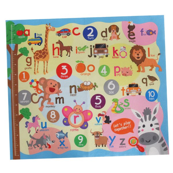 top popular Kids Toddler Playmat Carpet Rug For Animal Numbers Alphabet Learning Toys Baby Children Educational Play Mat Activity Game 2021