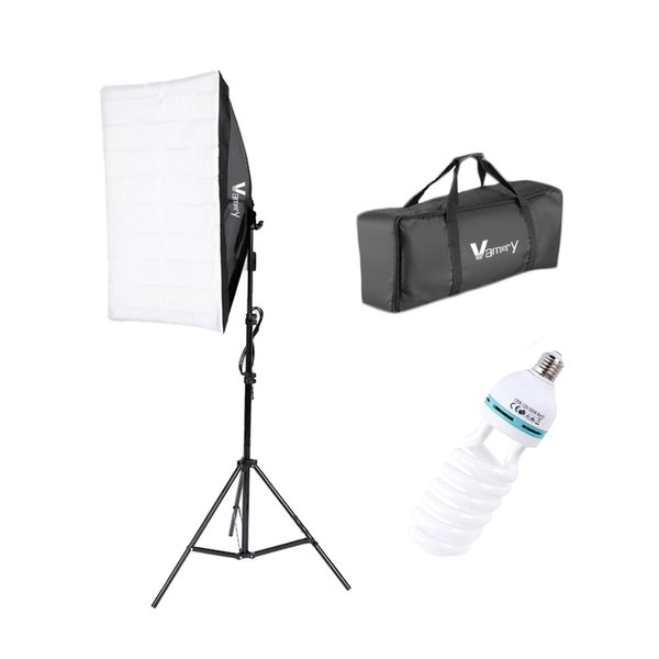 top popular UK Stock Softbox Photography Lighting Kit 5070 Single Head Professional Photography Continuous Lighting Equipment with 150W E27 Bulb 5000K 2021