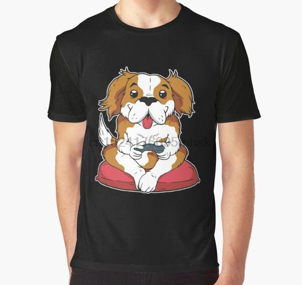 All Over Print 3D Tshirt Men Funny T Shirt Humor Dog Gamer design Gaming Tee Gift Dog Lover Graphic T-Shirt