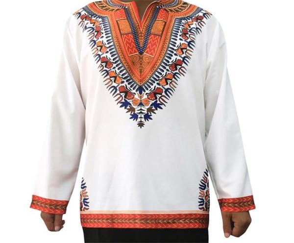Vintage Erkek Tasarımcı Casual Halk Stil Baskı Kasetli Mens Tees Uzun Kollu Erkek Giyim tişörtleri