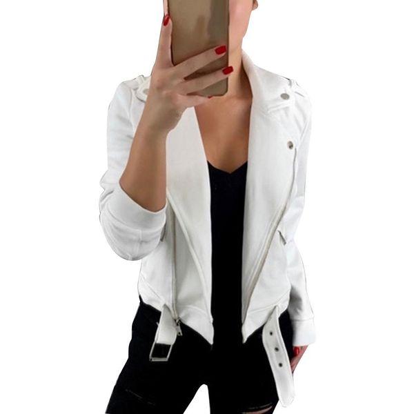 Casual Mulheres Jaqueta Cor Sólida Camisola Turn Down Collar Manga Longa Moda Retro Jaqueta Curta Casaco Zip