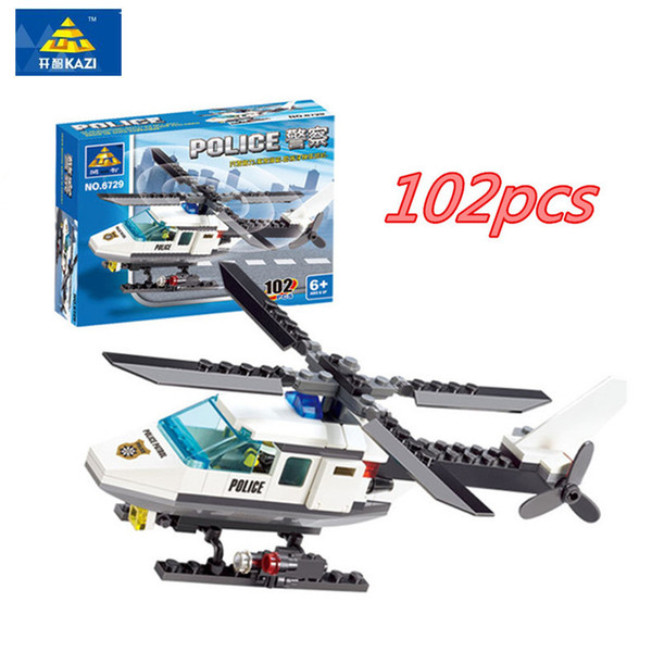 best selling 102 Pcs set Wholesale 3d Puzzles Aircraft Helicopter DIY Building Blocks Kit Bricks Set Kids Toys Compatible ings Gifts For Children