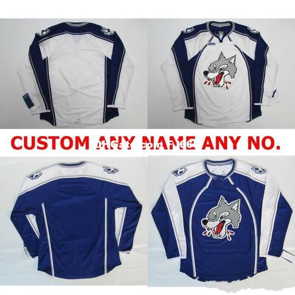 Customize OHL Sudbury Wolves Jersey Mens Womens Kids Personalized 100% Stitched Any Name NO.Ice Hockey Jerseys Goalit Cut Hot sale