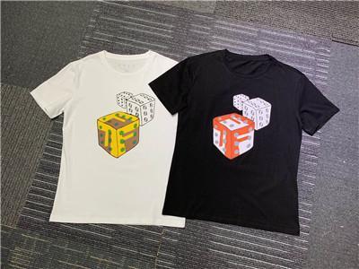 HOT 2019 Marca de Moda de Verão Homens de Manga Curta T-shirt F8025 Cool Eyes designer estilo FF carta algodão Homem Roupas tshirt O-pescoço tees