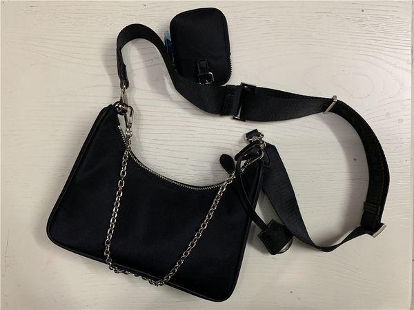 top popular 2020 Sale 3 piece set bags women crossbody bag Genuine Nylon handbags purses lady tote bags Coin Purse three item 2020