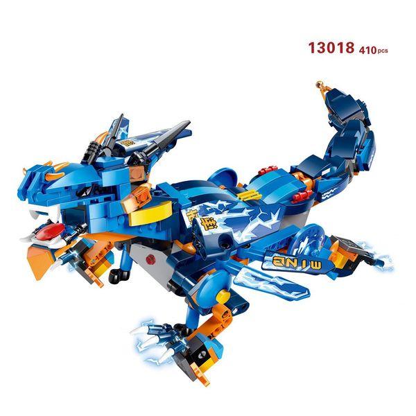 410/485/433/515pcs 2.4G 4H USB Charging DIY Building Block rc Animal Dragon Toys Thunder War Dragon Storm Electric Toy For Kids