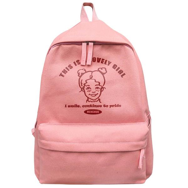 499021a2e243 Cute Girl Printed Canvas Backpack High Quality Leisure Women'S Backpack  Teenager Girls Preppy School Bag Female Bookbag Mochilas Running Backpack  ...