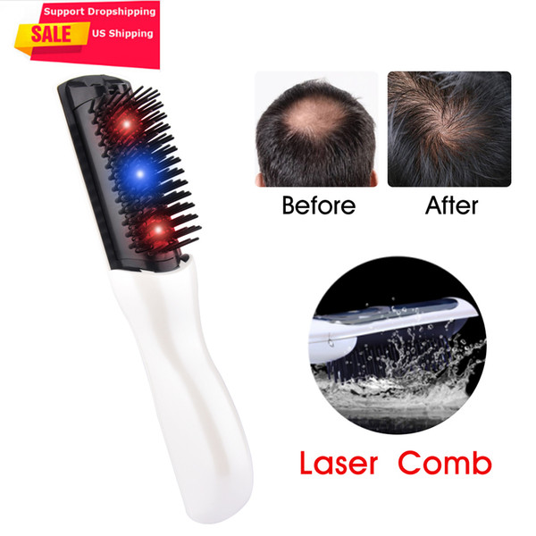 Us Stock Electric Infrared Laser Hair Growth Comb Hair Care Styling Hair Loss Growth Treatment Infrared Device Massager Brush SH190726