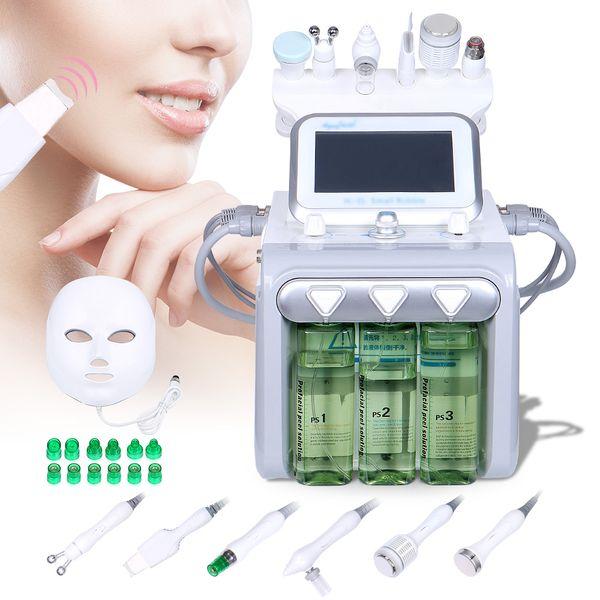 Hochleistungs-Ultraschall-Vakuum-RF-Sauerstoff-Jet-Spray Gesichtsaufhellung BIO Micro Current Machine LED-Gesichtsmaske festziehen