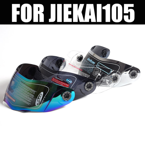 Modèle JIEKAI 105 visière moto flip up casque lentille anti-buée / clair / multicolore / lentille argentée casque jiekai