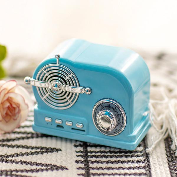 Fashion Portable Cellphone Music Bluetooth Speaker Stereo Bass Mini Wireless Subwoofer Car FM Radio MP3 Player Retro Speakers Gift