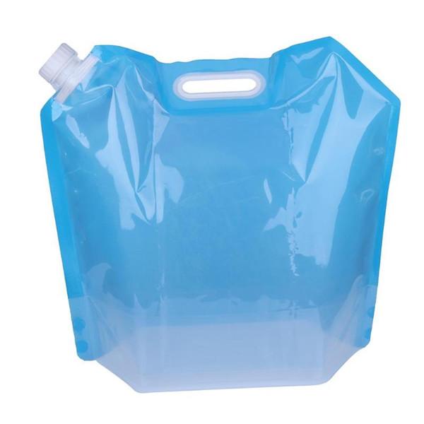 Portador al aire libre plegable portátil del envase del bolso del agua potable de 3L que acampa