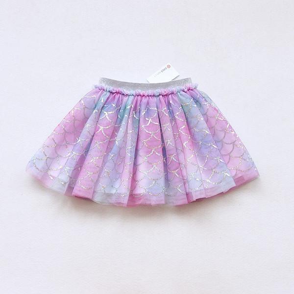 Sevimli Bebek Kız Balo Etek Çocuk giyim Yaz Sonbahar Kış Renkli Giyim Sequins Mermaid Çocuklar Örgü Tutu Etek