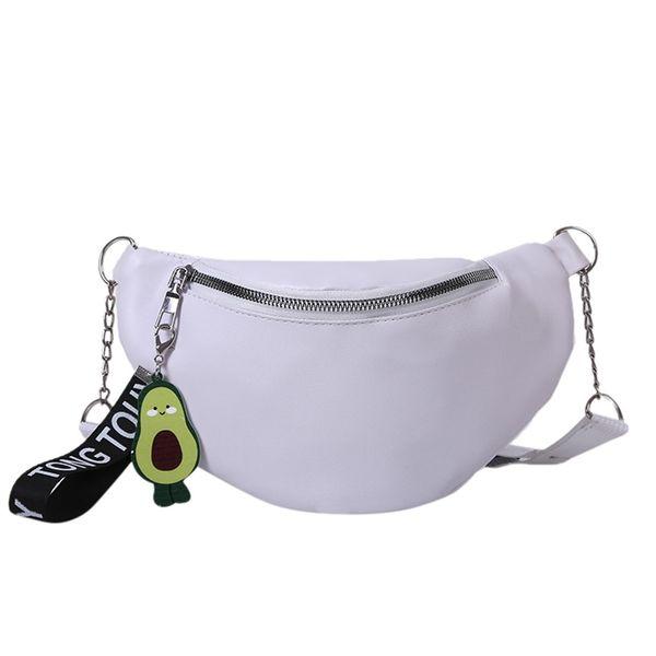 Art und Weise Frauen Brusttasche Bankett Schulter Hüfttasche Funsport Purse Leinwand Breast Paket weißer Messenger Bag für Mädchen