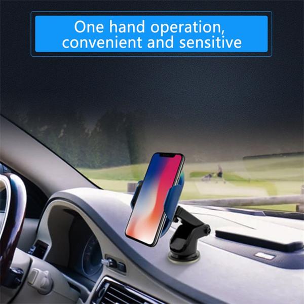 c8mini 2019 heißester intelligenter Infrarotsensor drahtloser Autoladegerät-Einfassungs-Halter Heißer Verkauf in den Handy-Einfassungs-Haltern als bewegliches Kameraobjektiv x vi