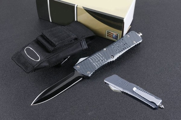2 стиля D1 нож двойного действия автоматический охотничий нож для кемпинга Drop Tanto Point 440 лезвие из нержавеющей стали EDC механизм выживания P24Q