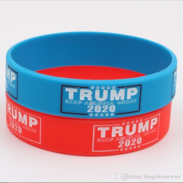 best selling Trump 2020 Silicone Bracelet Make America Great Again Letter Wristband Donald Trump Supporters Wristband Fashion Bracelets BH2122 TQQ