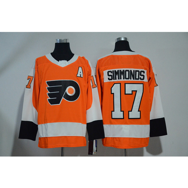 more photos 7404a a2fee 2019 2019 Mens Philadelphia Flyers 100th Anniversary Wayne Simmonds Home  Away Orange White Hockey Jersey All Players In From Szguan, $27.35 | ...