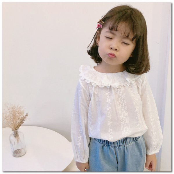 Toddlers Tops Summer Baby Girls Lace Sleeve Cotton T-Shirt Blouse Vest Top Tees