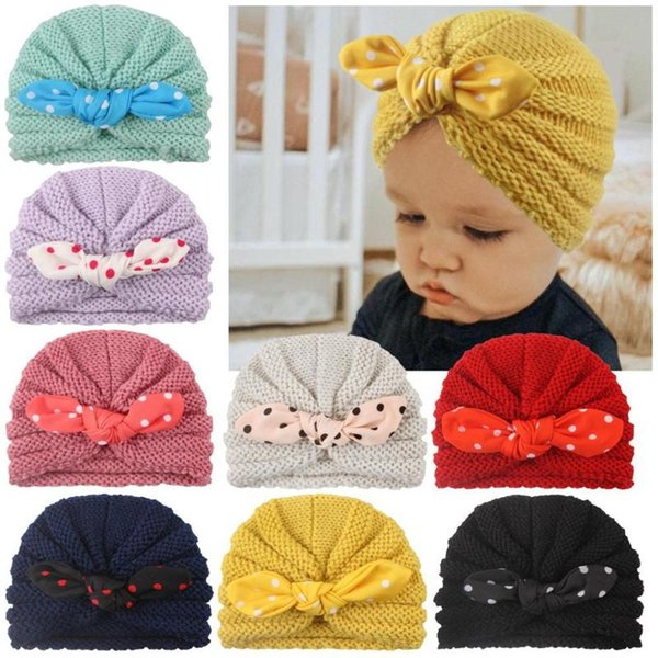 1PC Cute Baby Kids Cotton Hats Newborn Winter Warm Cap Baby Clothing Accessories