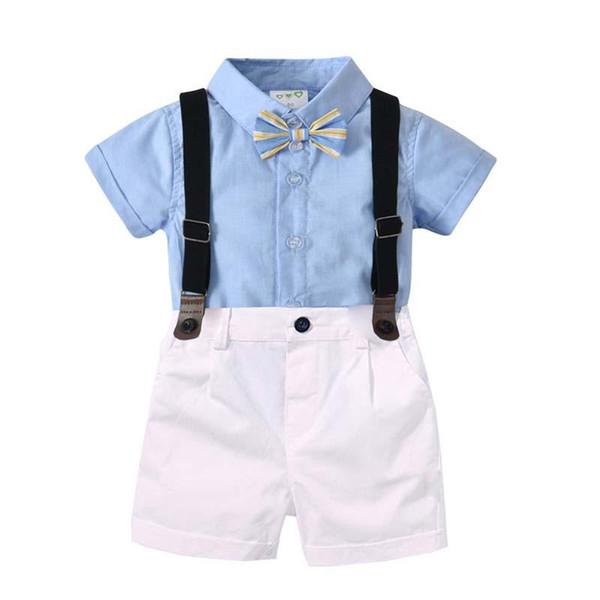 Yeni erkek bebek giysileri Erkek Giyim Setleri gömlek + askı pantolon şort pantolon Bebek Kıyafetleri Yenidoğan Toddler Giysileri Suits