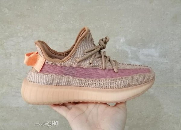 2019 V2 Kanye West True Form Hyperspace Clay Mens Women Running Shoes With Sock X Semi Frozen Yellow Sesame Sport Sneakers