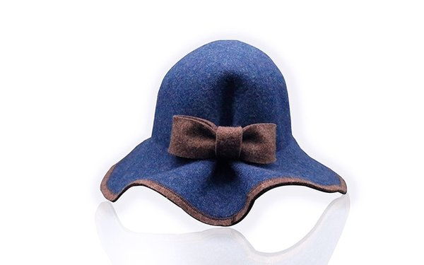 FLOPPY blue color tiftohiu jewelry textile manufacture exporter fashion street hats lovely beautiful classic berets for girls wool