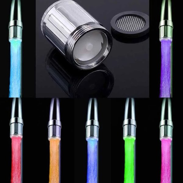 LED Water Faucet Light Colorful Glow Shower Head Kitchen Tap Intelligent LED Water Tap Color Faucets Nozzle No Battery