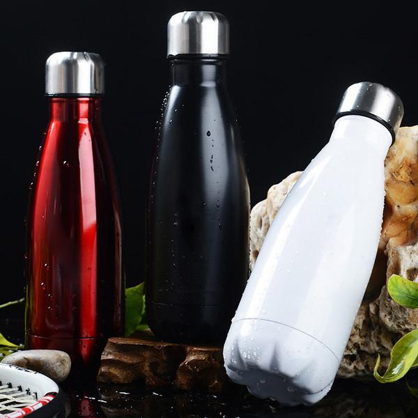 Bouteille thermos à vide de mode maintenir pot de conservation de la chaleur en acier inoxydable coupe à froid canon isolant en eau domestique bouteille de boisson SH190925