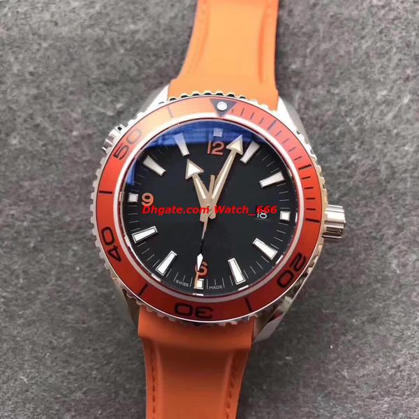 Orologio di lusso stile 4 B / F Planet Ocean232.32.46.21.01.001 Orologio da uomo meccanico movimento 45mm Swi / ss CAL.8500 arancione