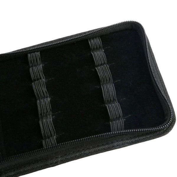 12 Penne Stilografica / Roller pelle penna Faux Holder Zipper Case New L41E
