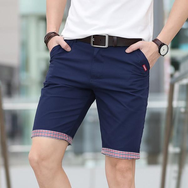 Brand Summer New Shorts Men Plaid Ruched Hem Short Pants Male Fashion Shorts Man Plus Size 28-40 Free Shipping Streetwear