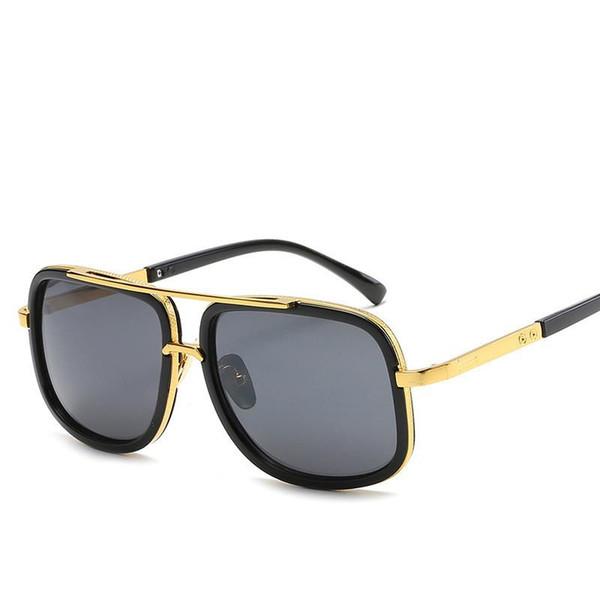 Marca de design homens óculos de sol do vintage duplo-ponte de condução  masculino óculos 5c64a67a7f